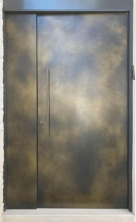 Axolotl Door Aged Brass