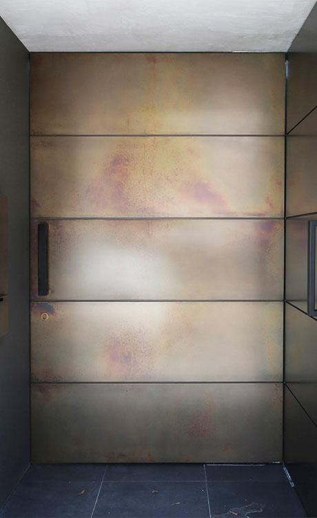 Axolotl Metal Door in a Bronze Pearl Finish
