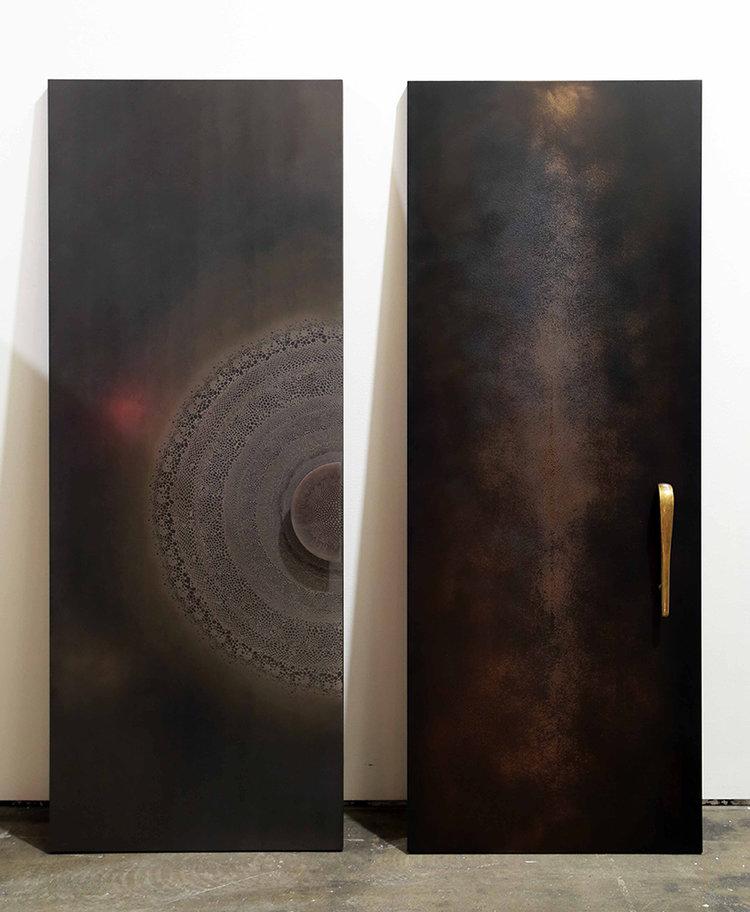 Axolotl Splice and Shagreen Metal Doors