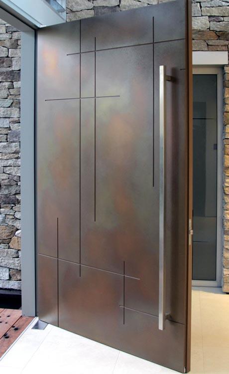 Axolotl Metal Door Copper Florentine