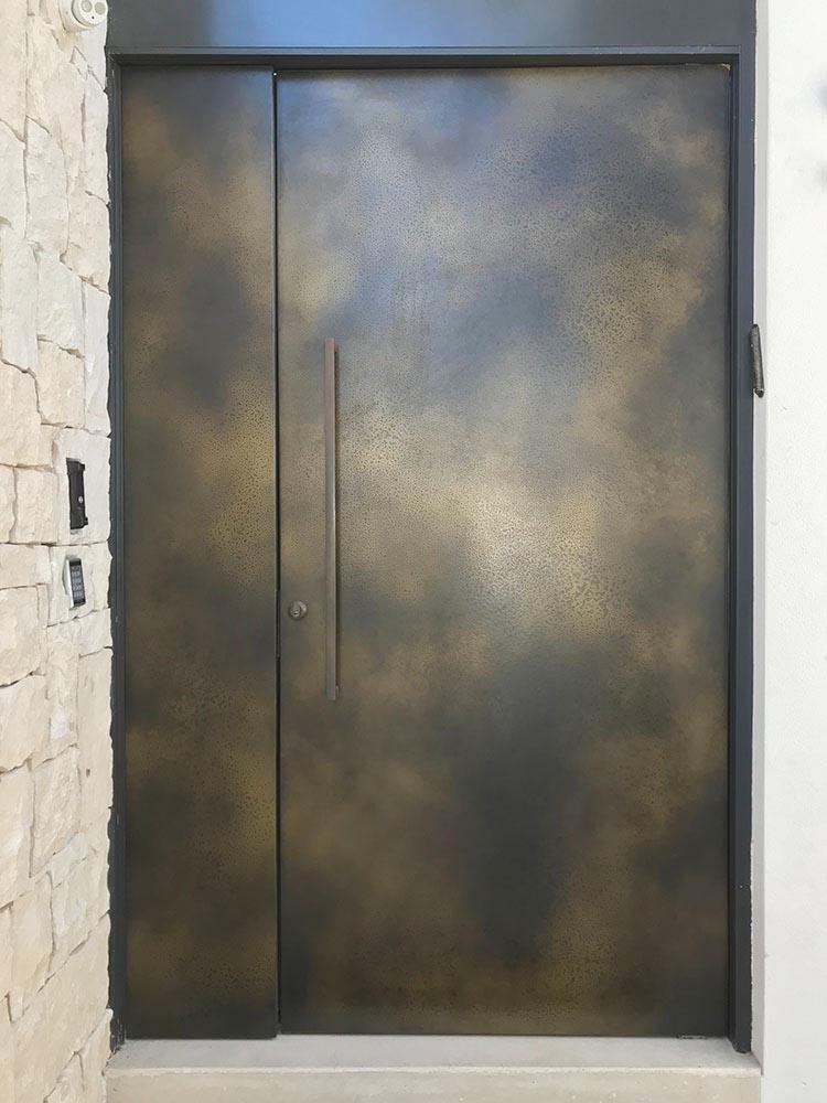 Axolotl Door in a Brass Lunar Florentine