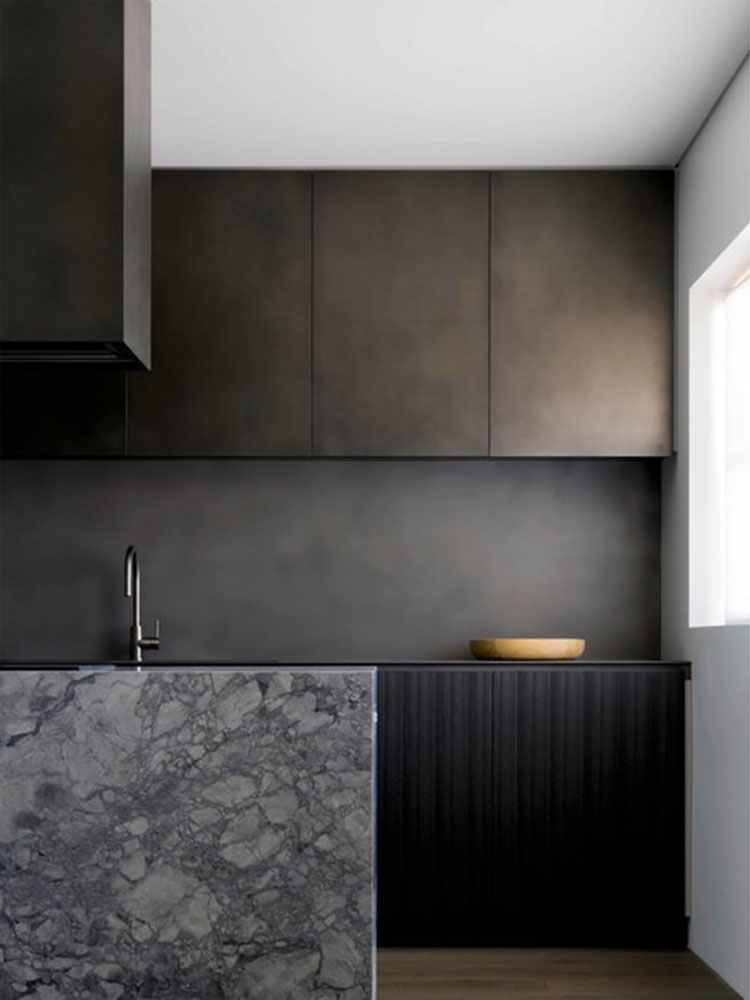 Anthra Zinc Coated Kitchen Cabinets