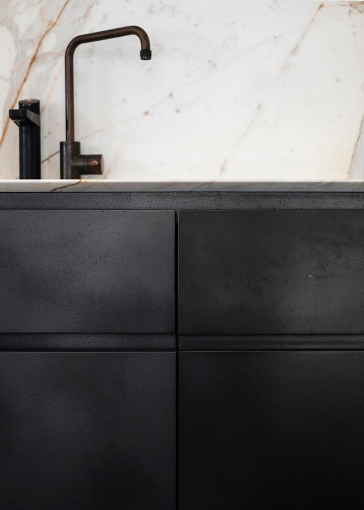 Slate Coated Kitchen Cabinets by Axolotl