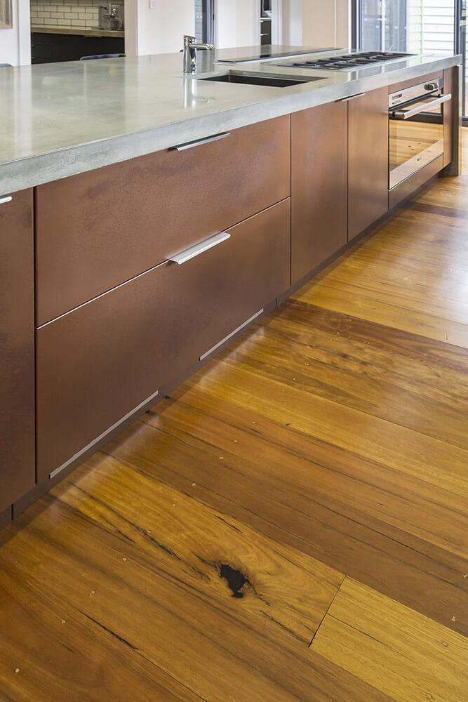 Copper Lunar Pearl Kitchen Cabinets