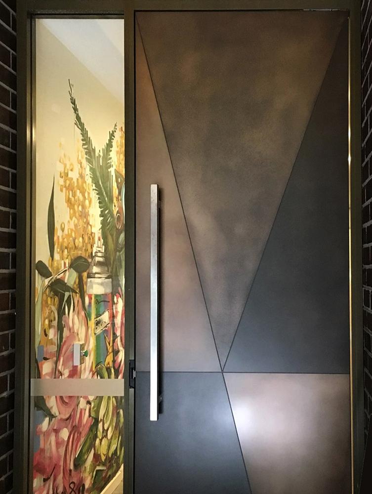 Axolotl Door in Treasury Bronze Combination Design