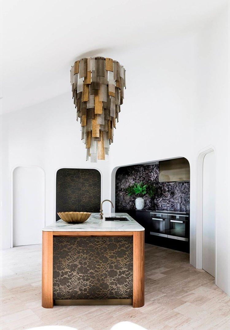 Bronze and Graphite Kitchen Cabinets
