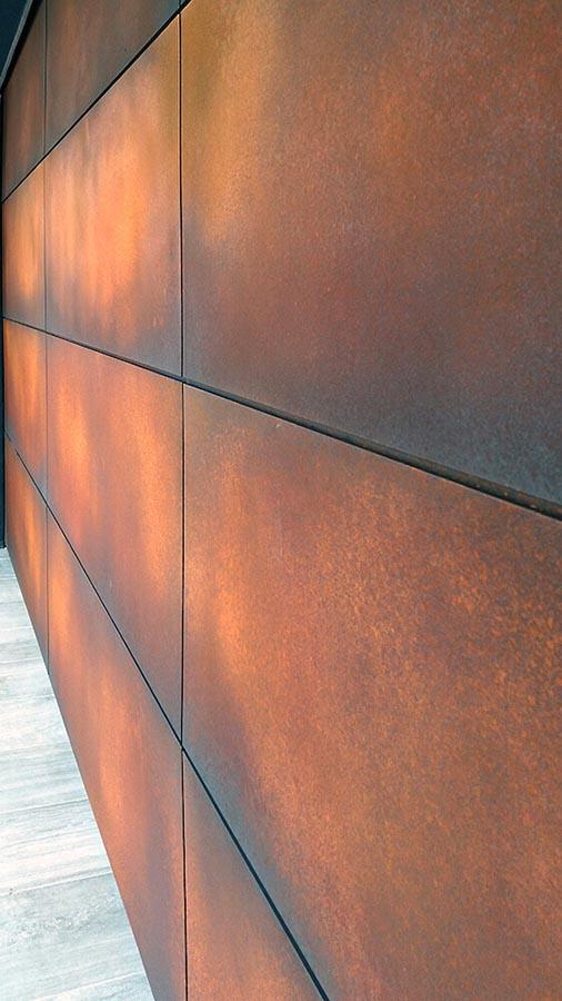 Orange Rust Axolotl Garage Door