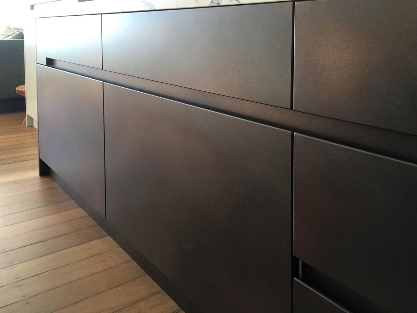 Treasury Bronze Kitchen Cabinets